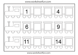 Coloring pages_Missing Numbers_Train_Jun
