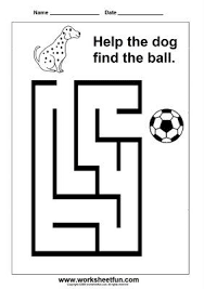 Coloring pages_Maze_Dog + Ball_June 2020