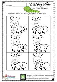 Coloring pages_Missing Numbers_Caterpill