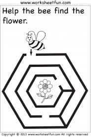 Coloring pages_Maze_Bee_June 2020