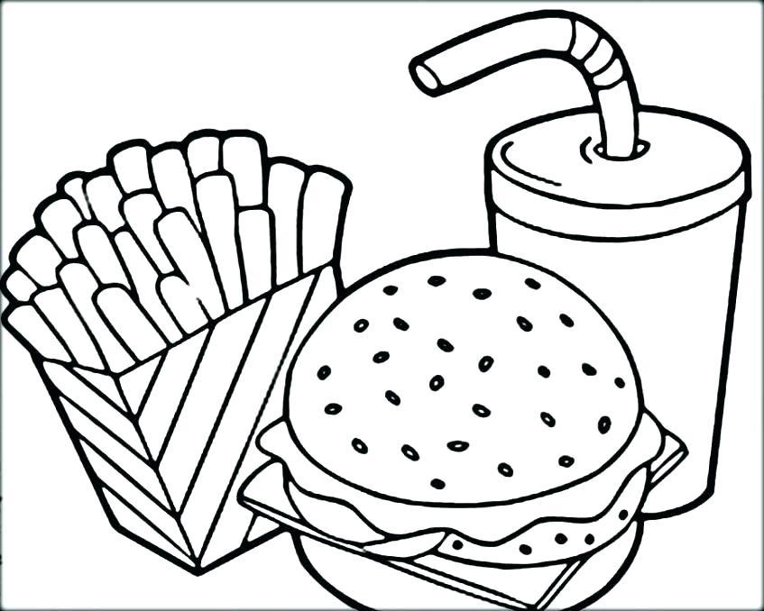 Preschool_Hamburger Coloring Page_1