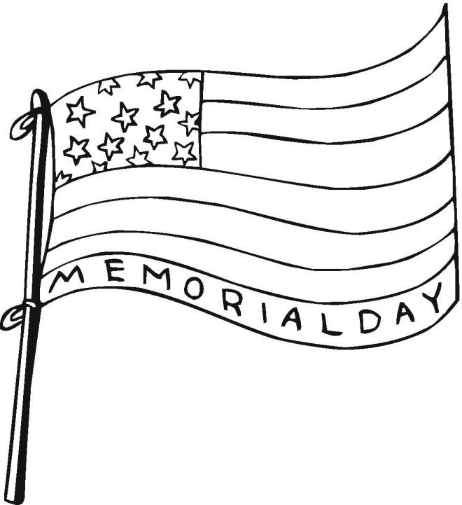 Preschool_Memorial Day Coloring Page_1