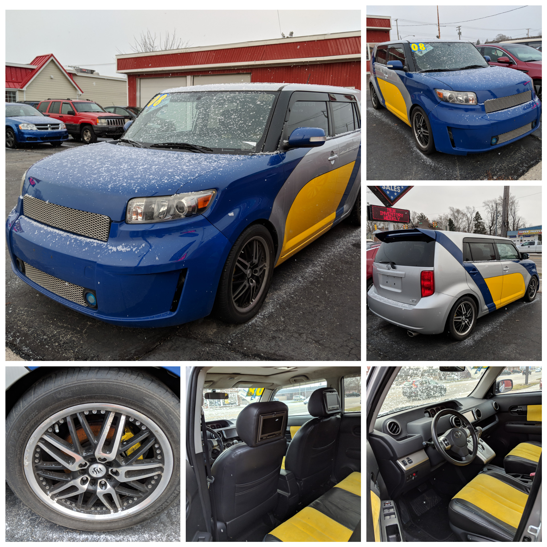 81 2008 Scion Xb Custom Tottaly 2006 For Xd Wiring Harness Includes Fully Paint Body Kit Aftermarket Rims 2 12inch Subs 5 Tvs California Leather Moon