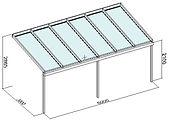 Terrassendach Angebote Typ 3, Terrassenüberdachung zum reduzierten Terrassendach Angebote Preis von 3780,00€/Euro B:6000mm T:3000 mm nur bei Terrassenüberdachung Wintergarten Solution Satzkowski. Ein traumhaft günstiger Terrassendach Angebot Preis