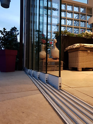Glasschiebetüren, Ganzglas-Schiebetüren, Schiebetüren aus Glas ohne Rahmen von Wintergarten-Solution Satzkowski