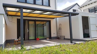 Terrassendach in Aachen. Eineterrassenüberdachung in Aachen mit Wintergarten-Solution mit Lieferung und Montage