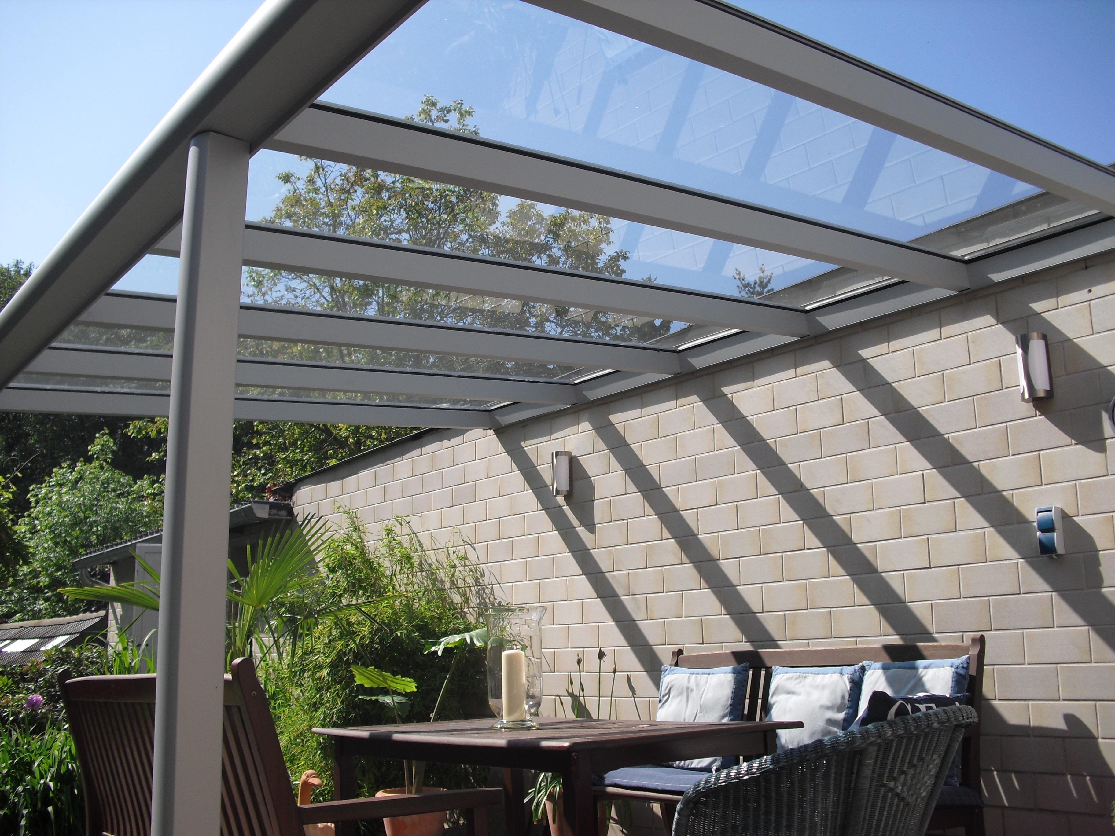 Terrassenüberdachung Glasdach