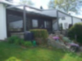Terrassendach Geilenkirchen, Terrassenüberdachung in Geilenkirchen mit Glas und Alu, zum weiteren Ausbau als Wintergarten geeignet,Preise Angebote Kosten Kaufen auch mit Doppelstegplatten