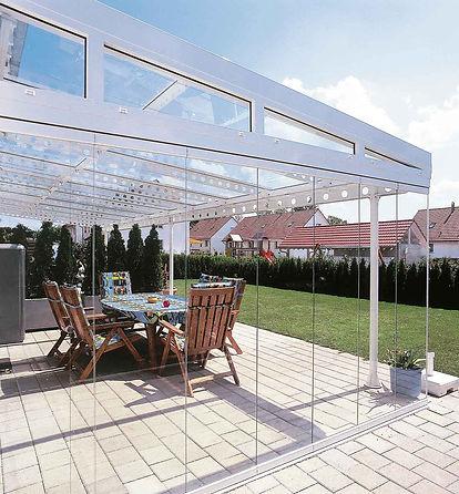 Terrassendach ausbauen mit Wintergarten-Solution. Terrassenüberdachungen mit Glasschiebetüren zum Kalt Wintergarten ausbauen, günstige Preise und top Angebote