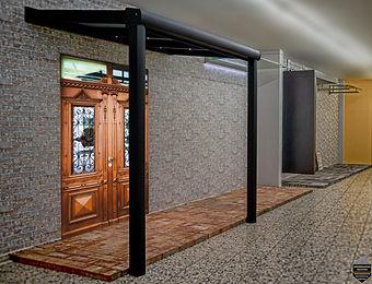 Vordach, Haustür Überdachung, Haustür Überdachung Vordach Oberhausen-Mühlheim aus Aluminium mit LED Licht im Träger. Haustür Überdachung, Vordach Preise,Angebote und Lieferung auf Anfrage wegen Anfertigung.