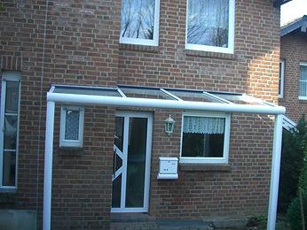 Vordach, Haustür Überdachung, Hauseingangsüberdachung für jeden Haustyp und Haustür