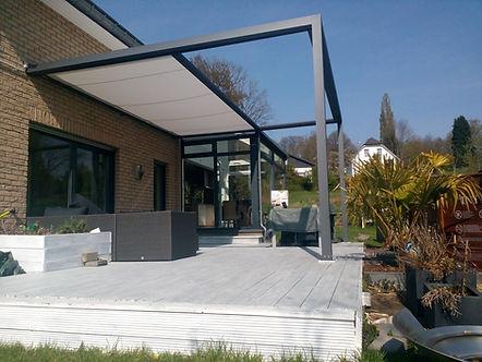 Markisenüberdachung für Gewerbe und Privat mit Wintergarten-Solution Satzkowski