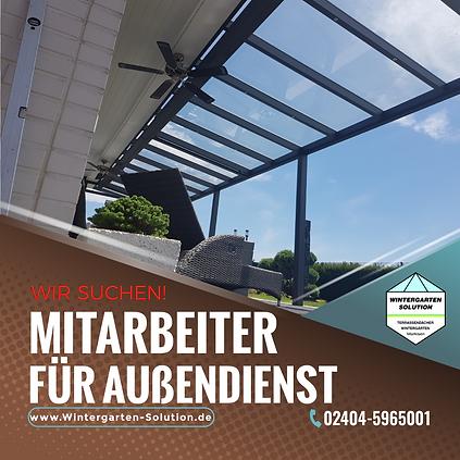 Stellenangebot für den Vertrieb im Außendienst für Terrassendach und Wintergarten bei Wintergarten-Solution