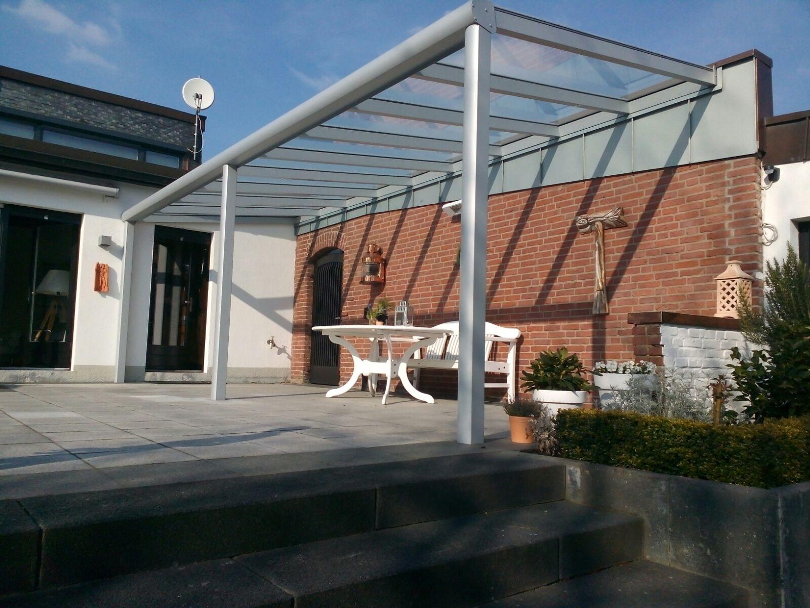 Terrassenüberdachung Alu mit Glas