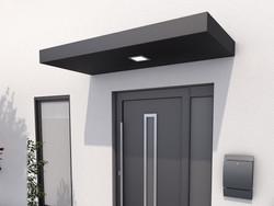 Aluminium Vordach mit LED