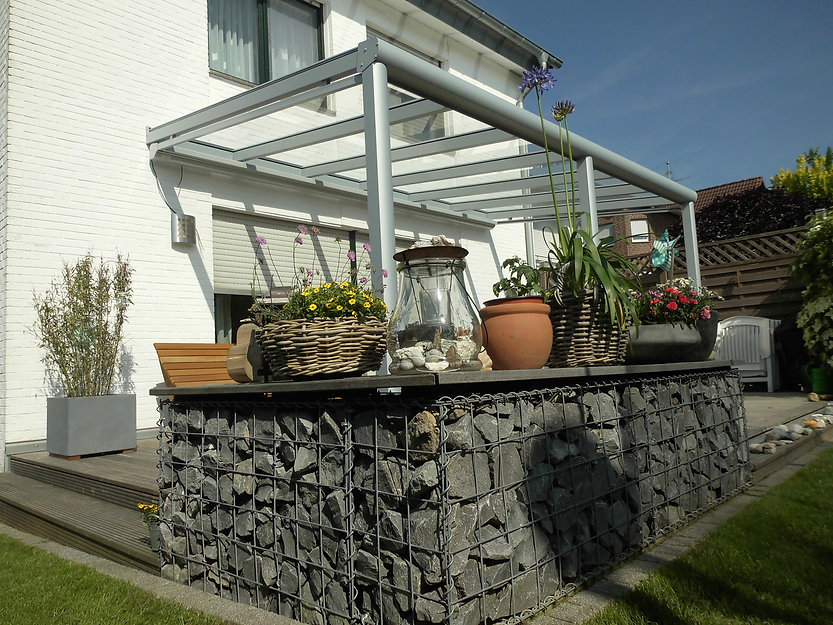 Terrassendach Wesseling, Terrassenüberdachung in Wesseling mit Glasdach und Aluminium., schlüsselfertig gebaut, gute Preise Angebote Kosten schnell und zuverlässig