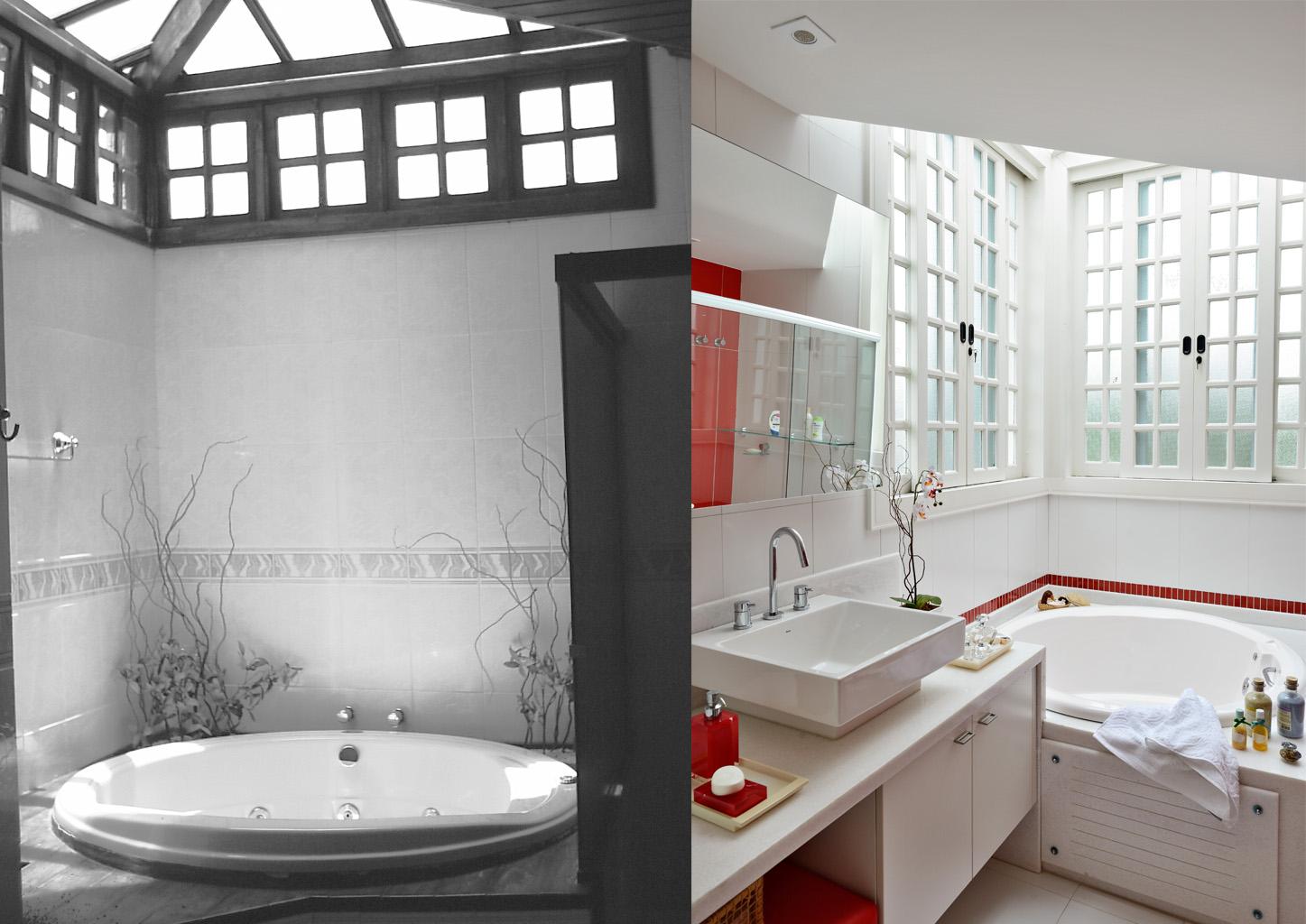 Banheiro da filha com claraboia