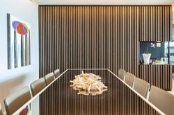 Mesa de Jantar em laca e espelho bronze
