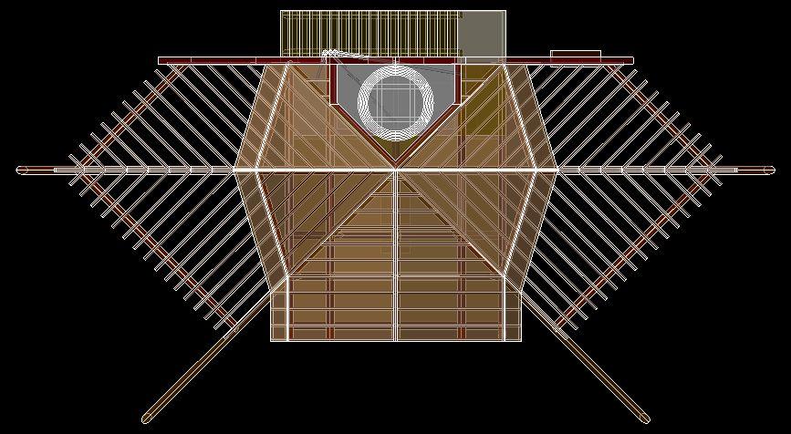 Vista Superior do conjunto arquitetônico