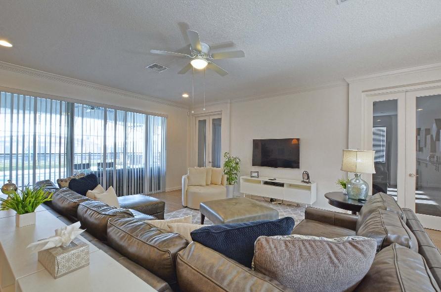 Sala clean com ventilador de teto
