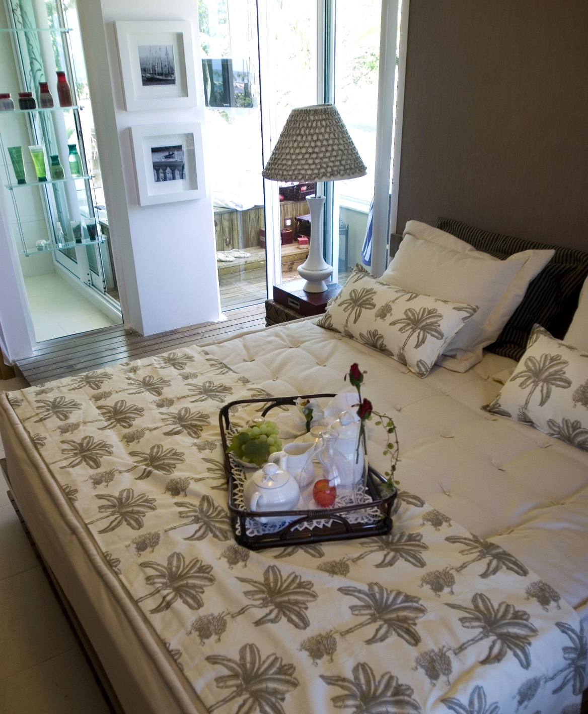 Manta tropical para roupa de cama