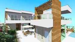 Espaço Gourmet com terraço sobreposto