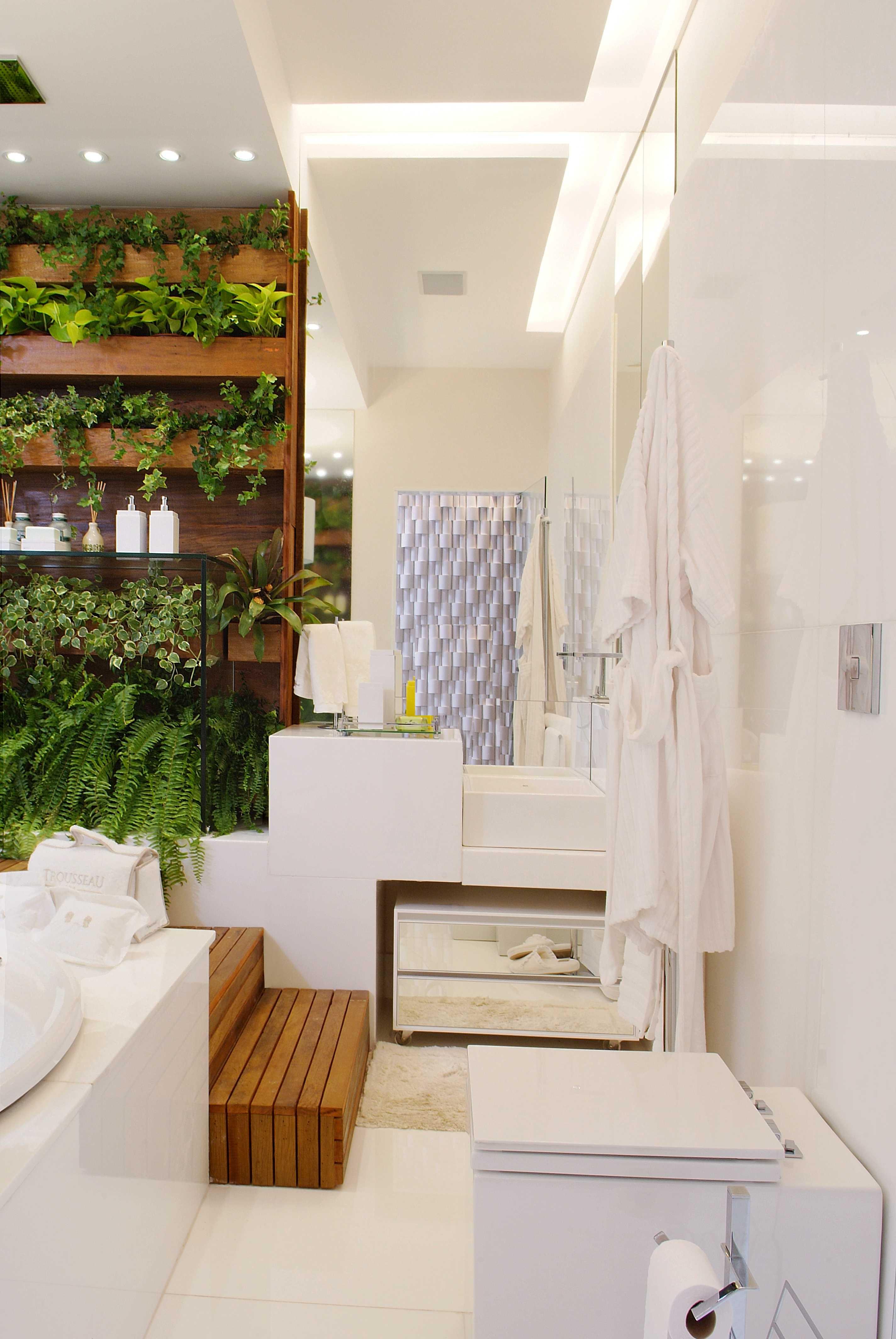 Planta simétrica para banheiro de casal