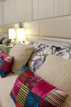 Roupa de cama em texturas variadas