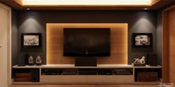 Painel de TV retroiluminado