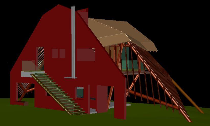 Perspectiva do conjunto arquitetônico