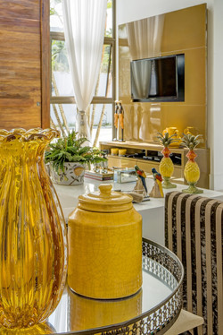 Objetos decorativos tropicais