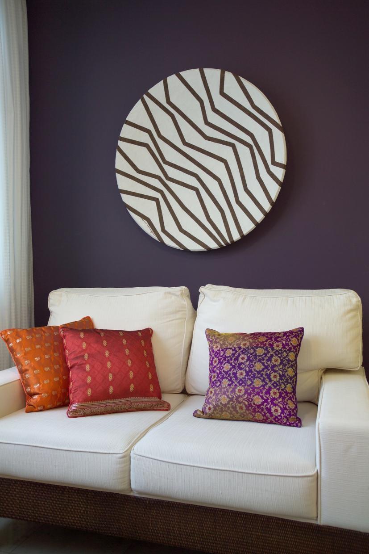 Espaço de Sobremesa com sofá duplo