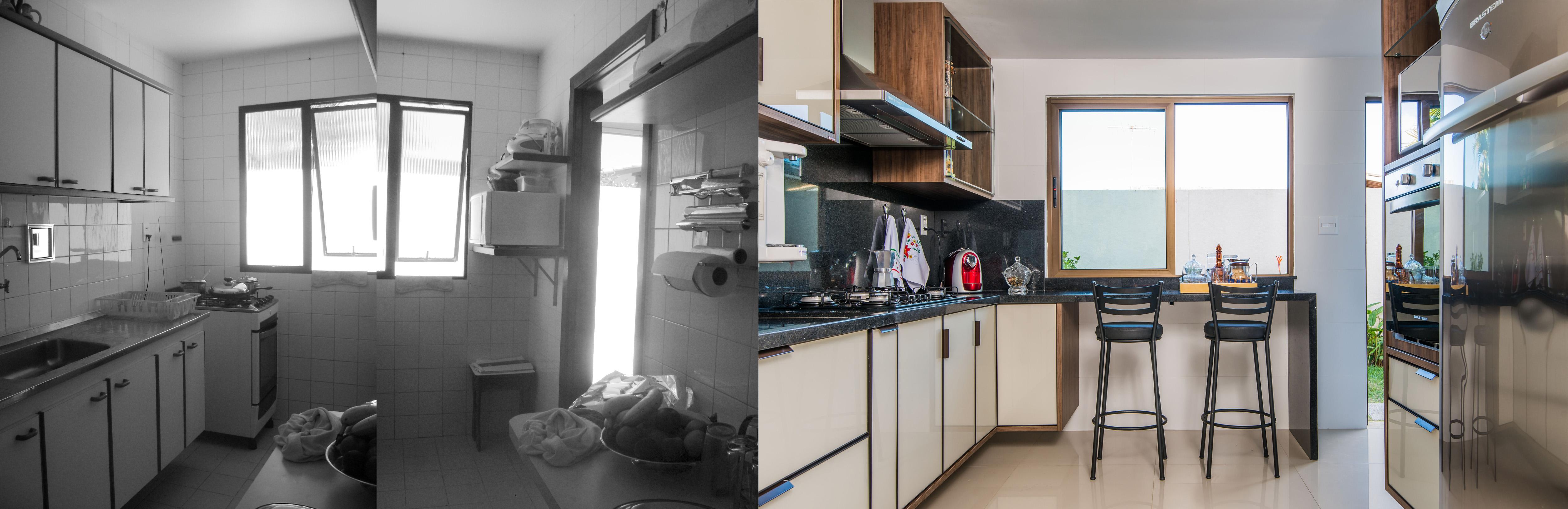 Cozinha ampliada e modernizada