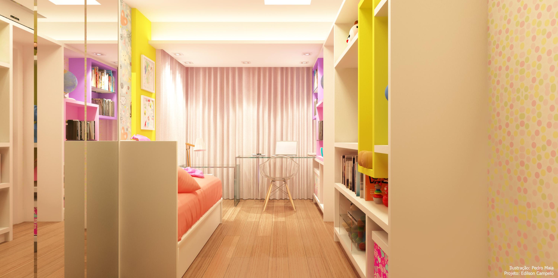 Planta linear para quarto de criança