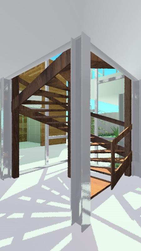 Escada no estilo Lina Bo Bardi para residência