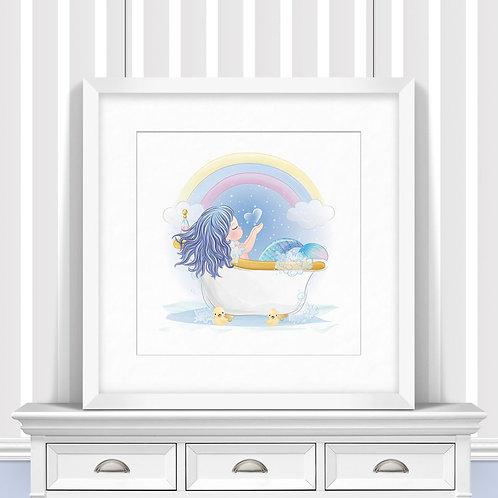 Bathtime Mermaid Trio Nursery Wall Art | Little Joe And Me