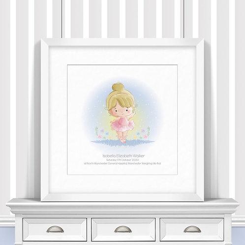 Ballerina Nursery Wall Art | Little Joe And Me