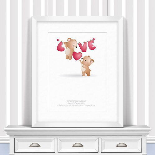 Holding On To Love Nursery Wall Art | Little Joe And Me