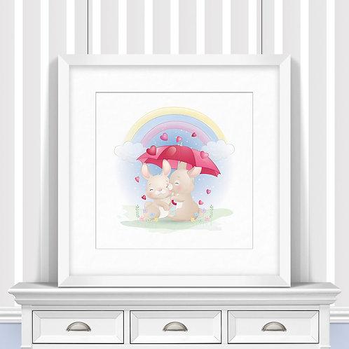 Under My Umbrella Trio Nursery Wall Art   Little Joe And Me