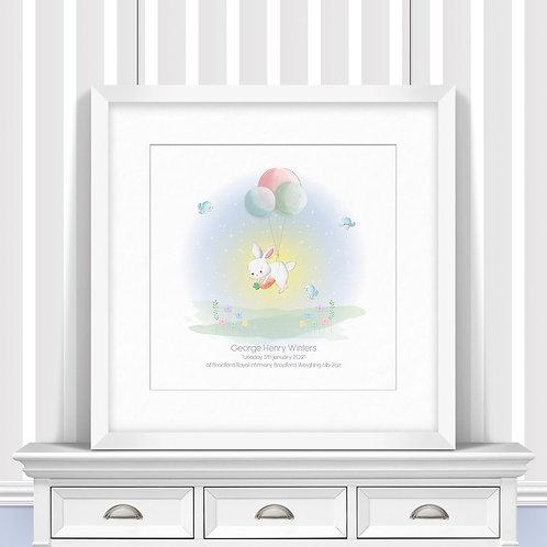 Flying Rabbit Nursery Wall Art | Little Joe And Me