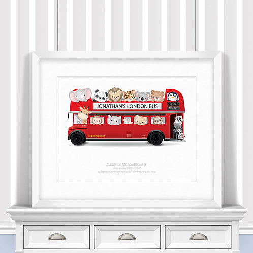 London Bus Nursery Wall Art | Little Joe And Me