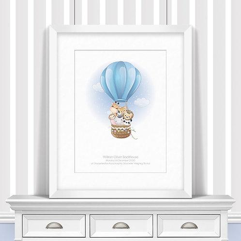 Hot Air Balloon Nursery Wall Art | Little Joe And Me
