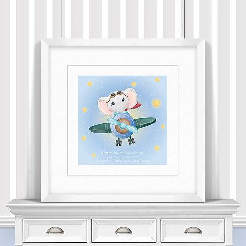 Plane Sailing Nursery Wall Art   Little Joe And Me