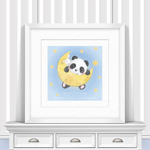Panda Moon Nursery Wall Art   Little Joe And Me