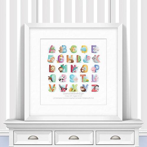 Watercolour Alphabet Nursery Wall Art | Little Joe And Me