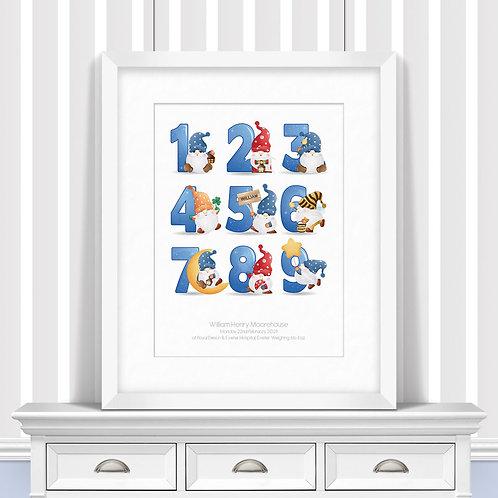 Gnome Numbers Nursery Wall Art | Little Joe And Me