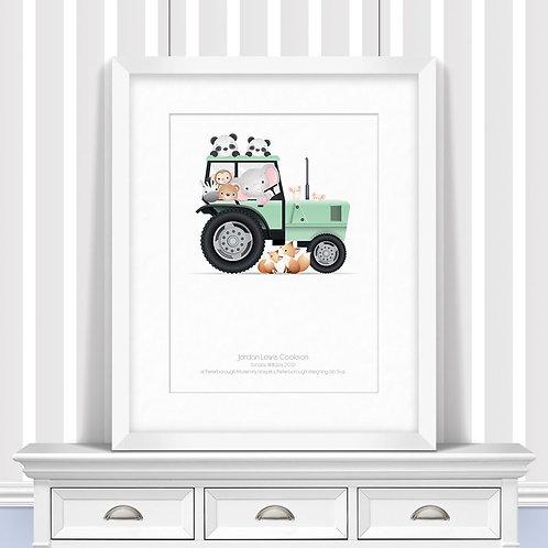 Tractor Nursery Wall Art | Little Joe And Me