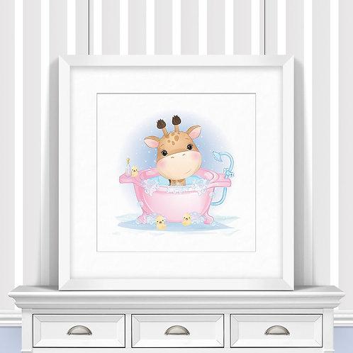 Bathtime Animals Trio Nursery Wall Art   Little Joe And Me