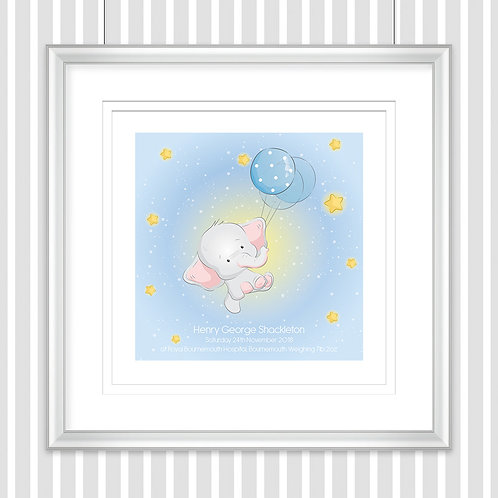 Horizontal Personalised Nursery Print