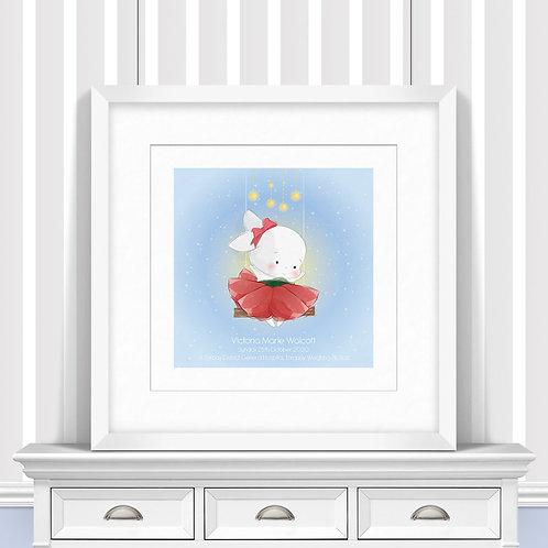 Lullaby Bunny Nursery Wall Art   Little Joe And Me